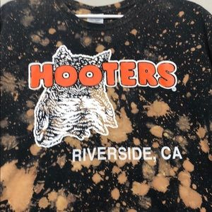 Other - Hooters Custom bleached t-shirt